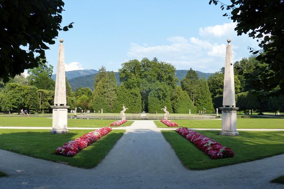 park, garden, geometry