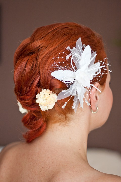 wedding, hairstyle, ginger