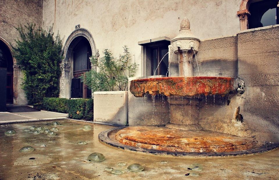 fountain, roman fountain, italy