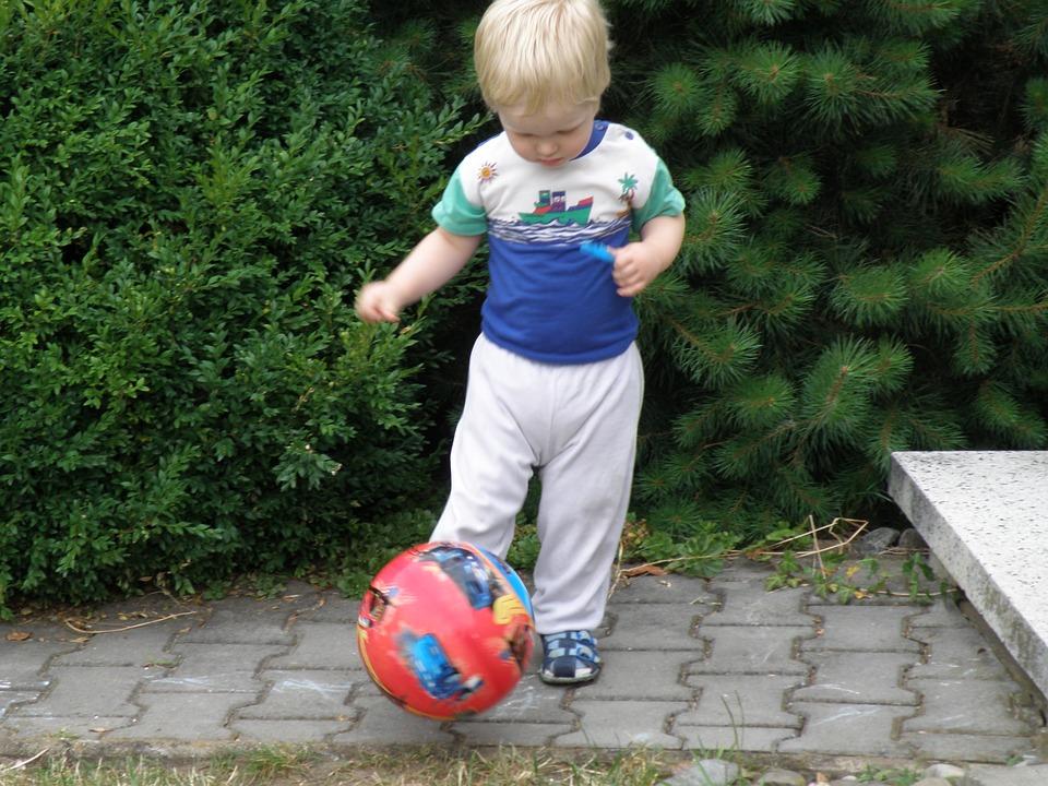 child, ball, game