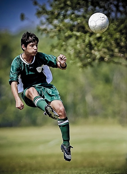 soccer, kick, kicking