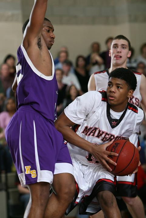 basketball, player, action