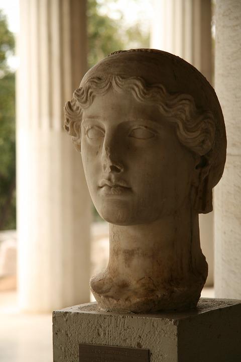 agora, athens, statue