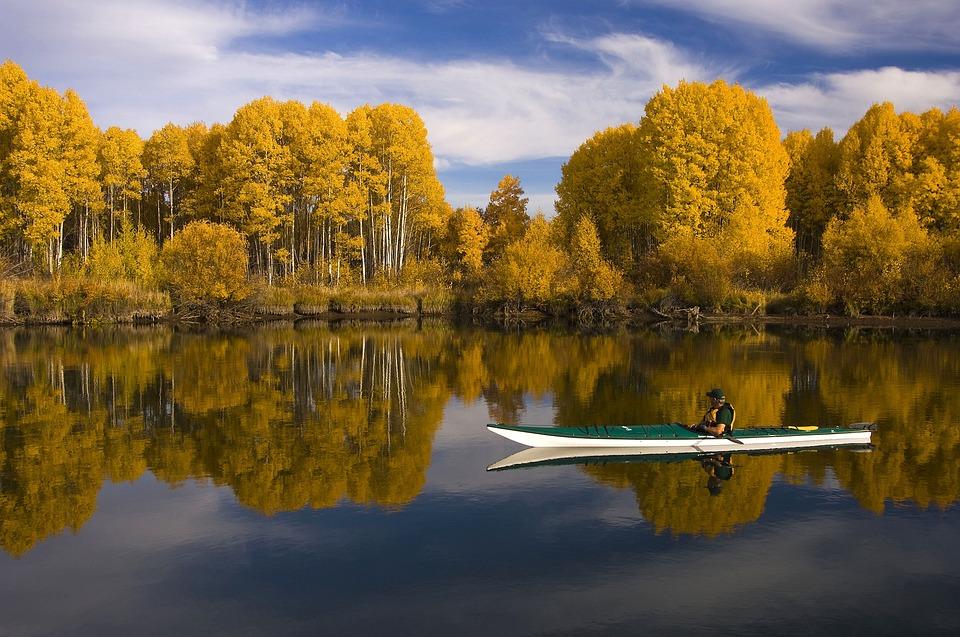 kayak, lake, outdoors