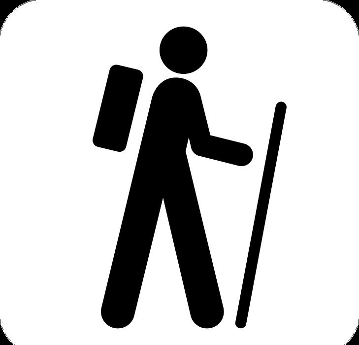 walking, hiking, man
