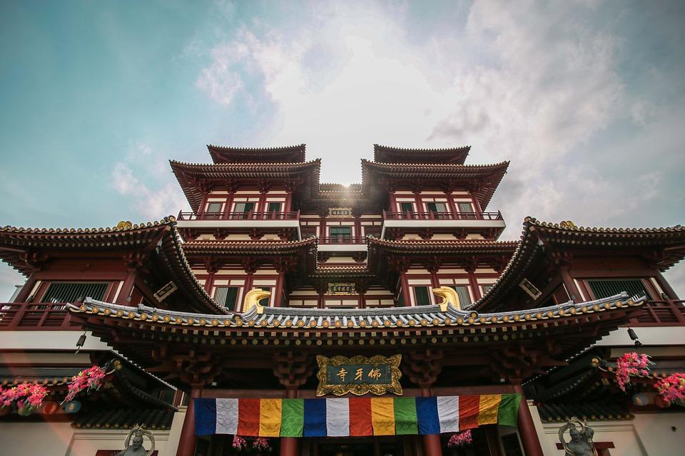 asia, temple, architecture
