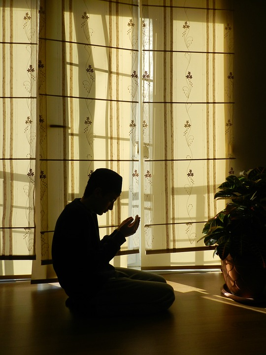 prayer, muslim, silhouette
