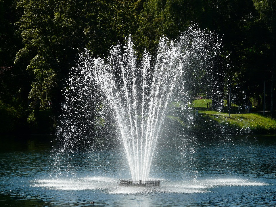 fountain, water, water feature