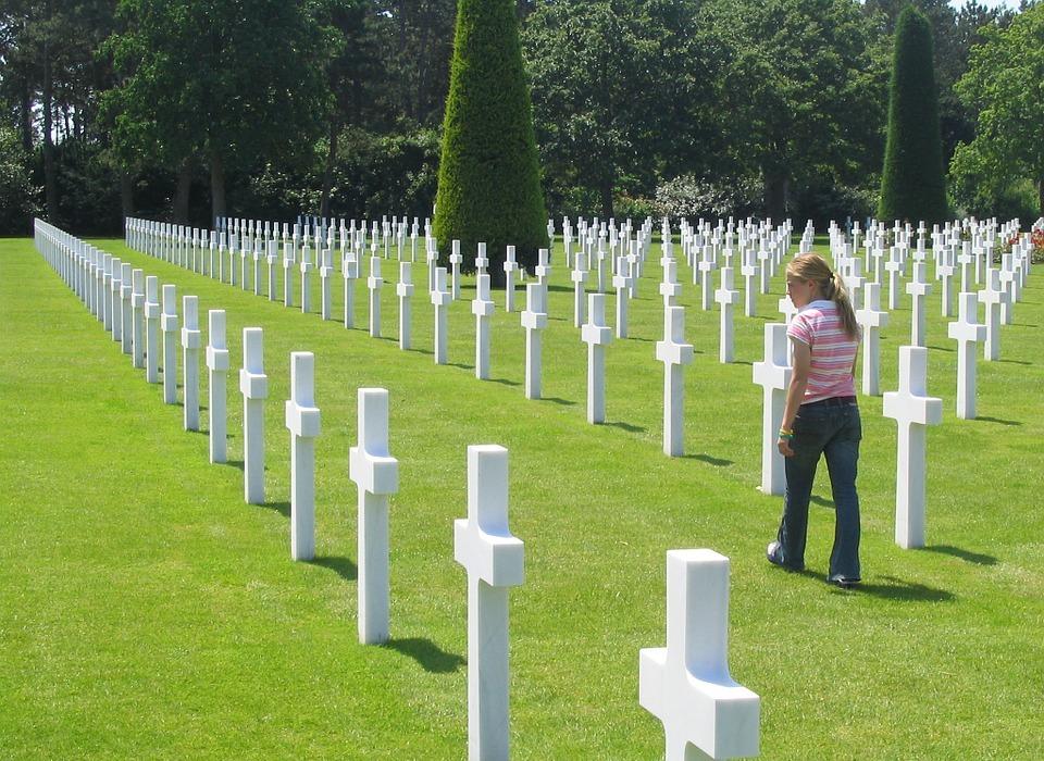 cemetery, american, cross