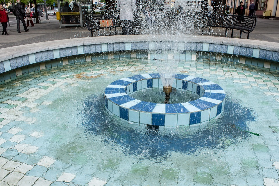 fountain, water, tourism