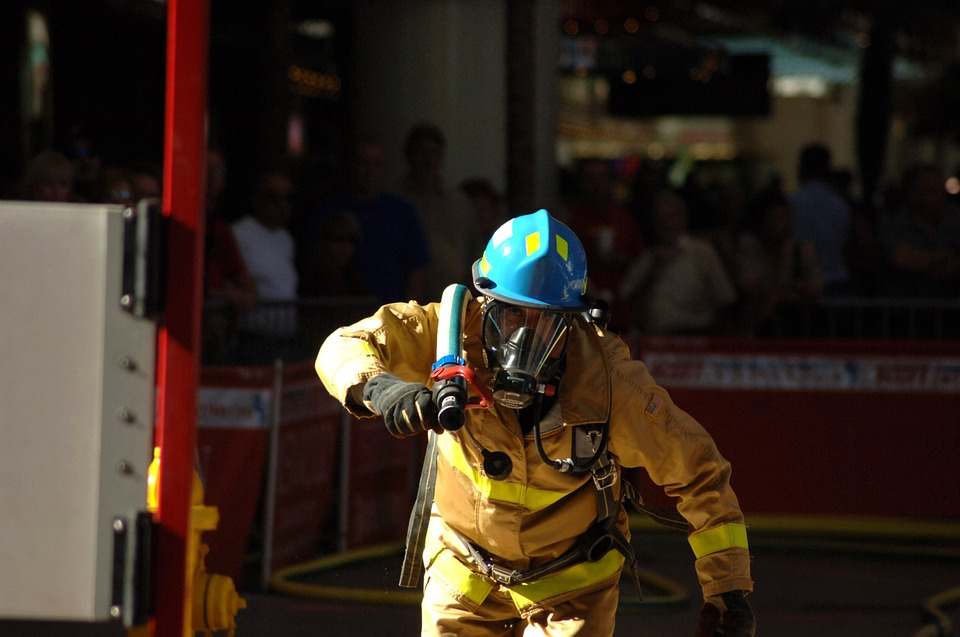 fireman, competition, hose