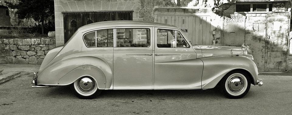 vintage car, classic car, limousine