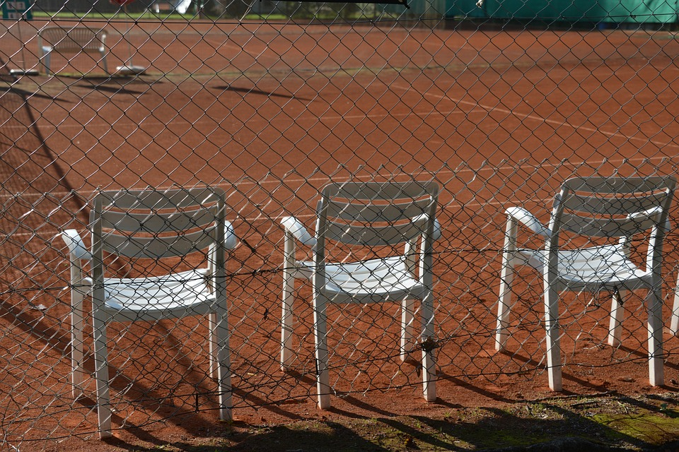 tennis, tennis court, chairs