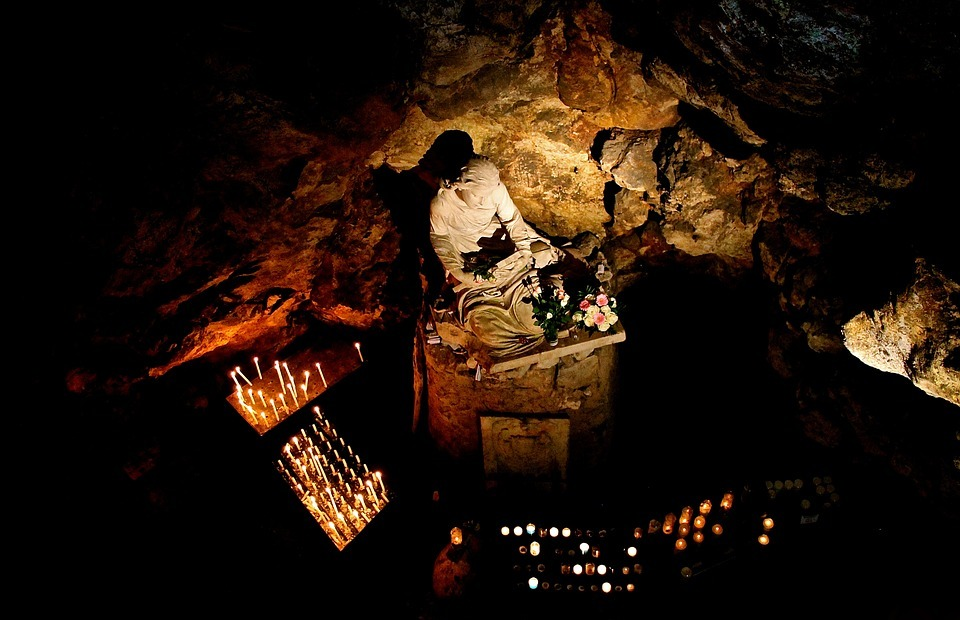 prayer, cave, christian