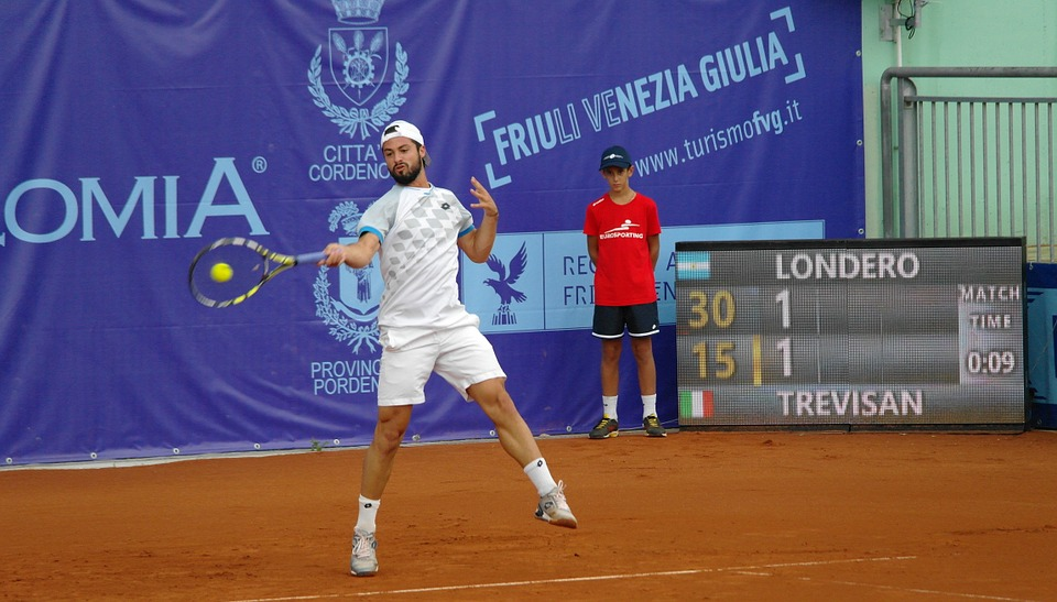 tennis player, forehand, tournament