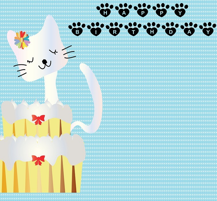birthday background, happy birthday, birthday cake