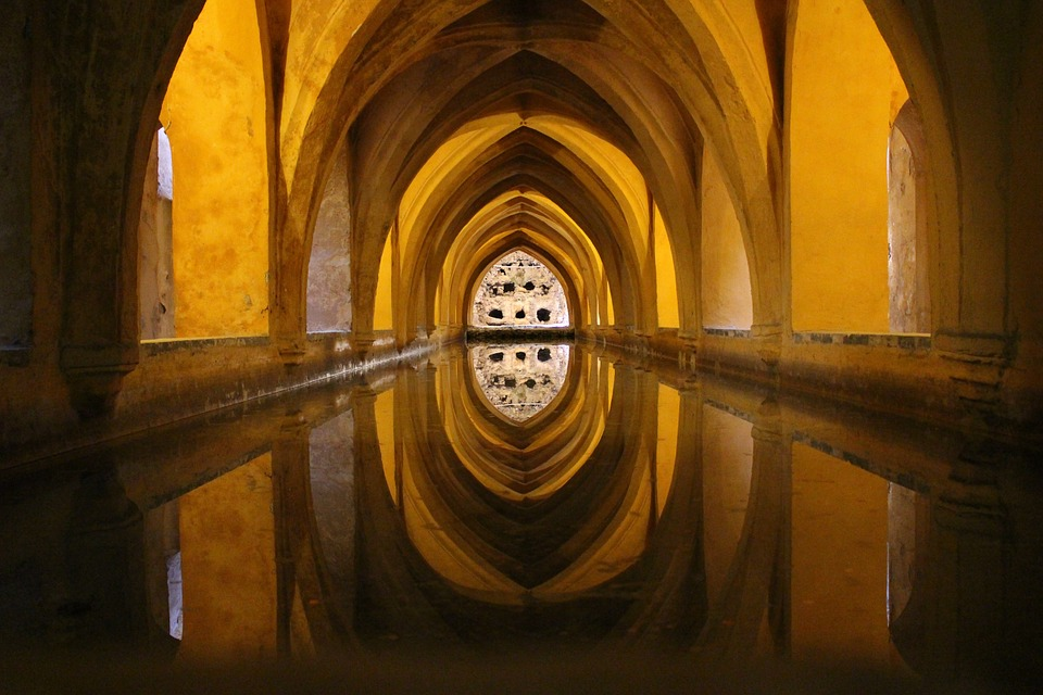 cistern, water, architecture