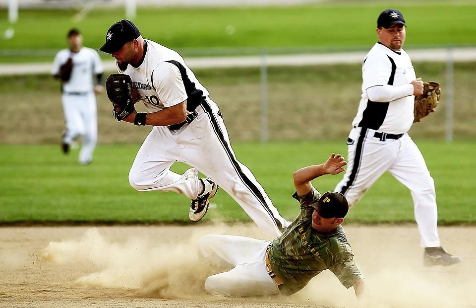 softball, player, game