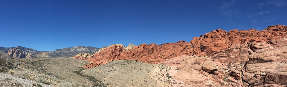 united states tourism, blue sky, red rock canyon