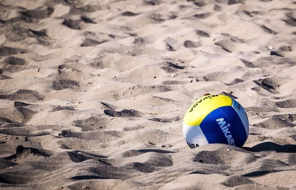 volleyball, ball, beach