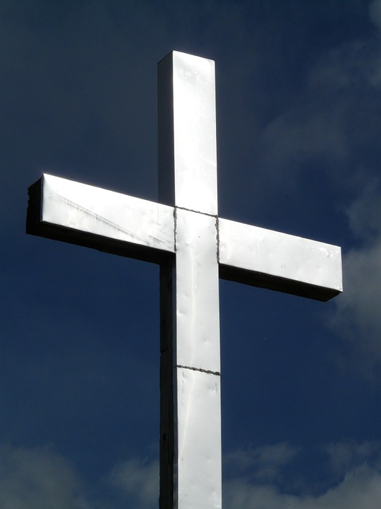 cross, summit cross, metal