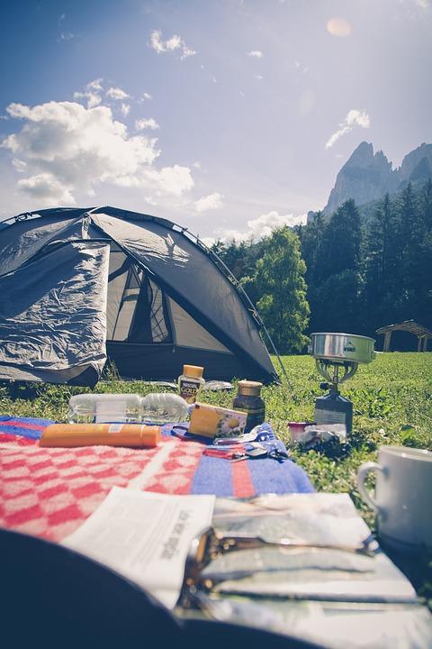 camping, camp, nature