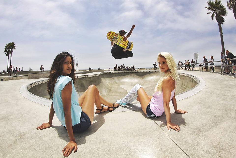 skateboard, skate park, skater