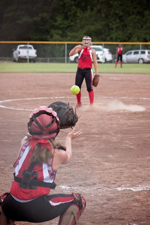 softball, game, catcher