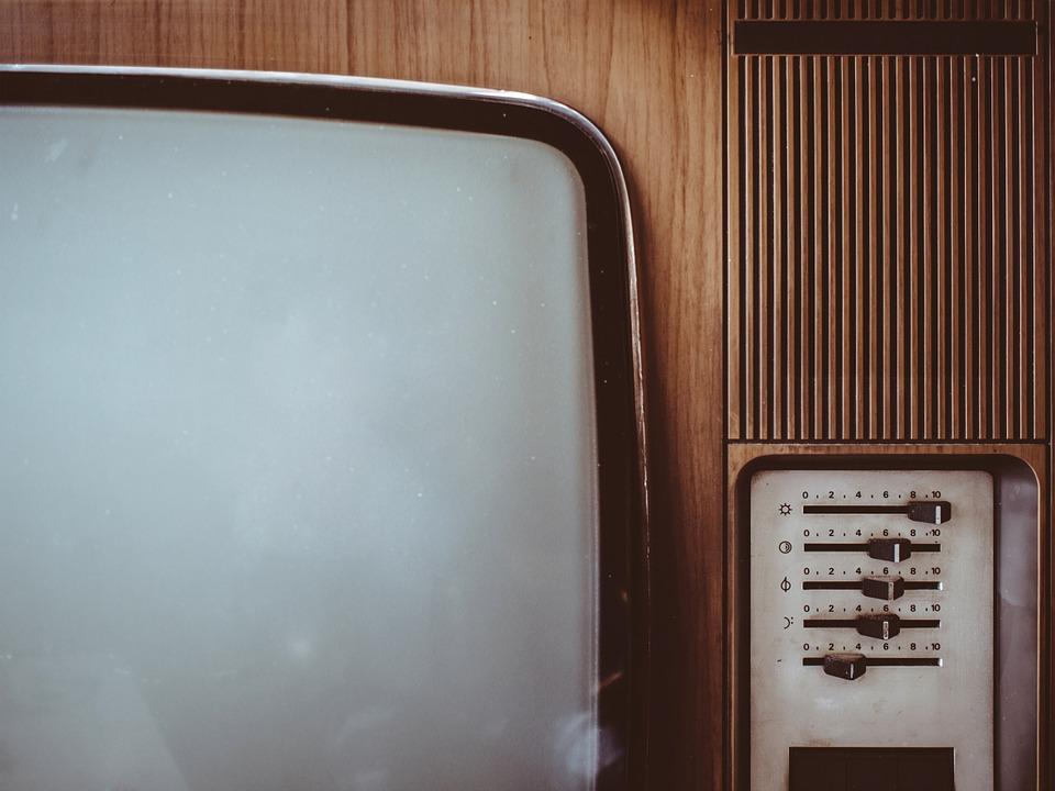 old, vintage, tv