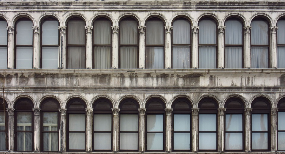 window, facade, historically