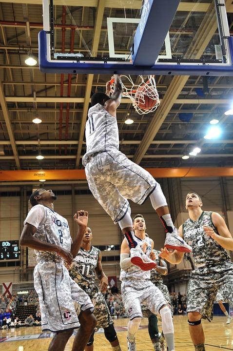 basketball, dunk, score