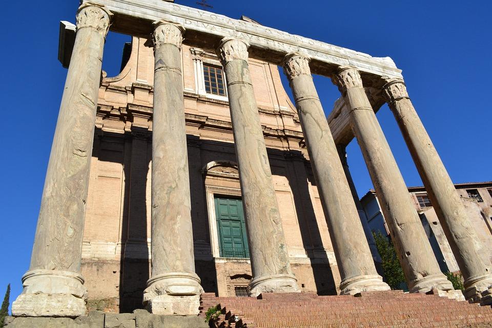 roman forum, columns, italy