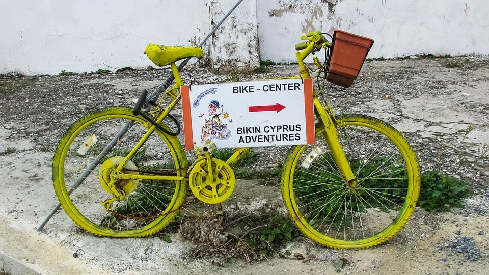 bicycle, yellow, activity
