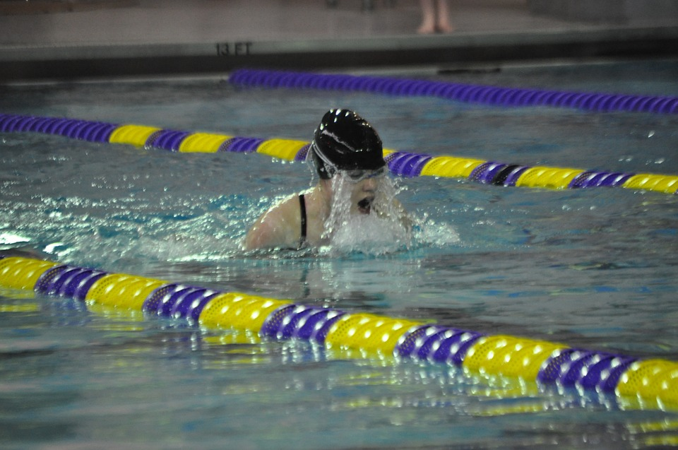 female, swimmer, water