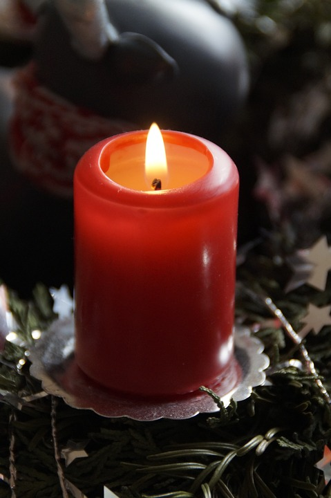 candle, advent, advent wreath
