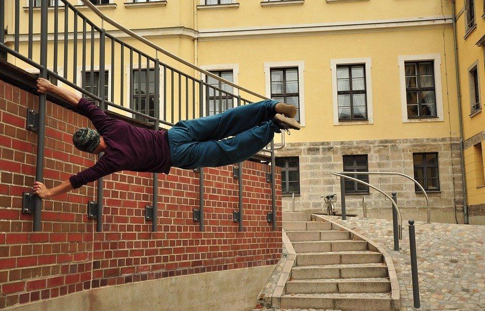 parkour, climb, acrobatics