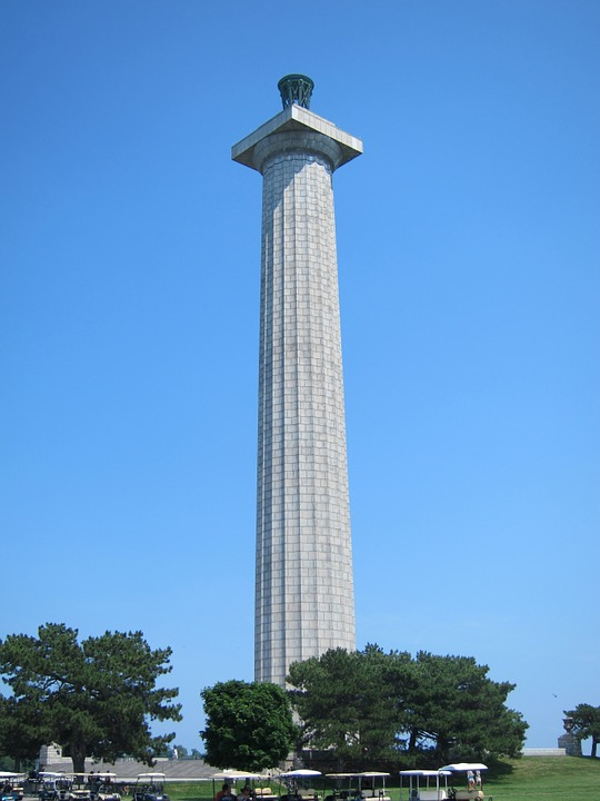 monument, memorial, lake erie