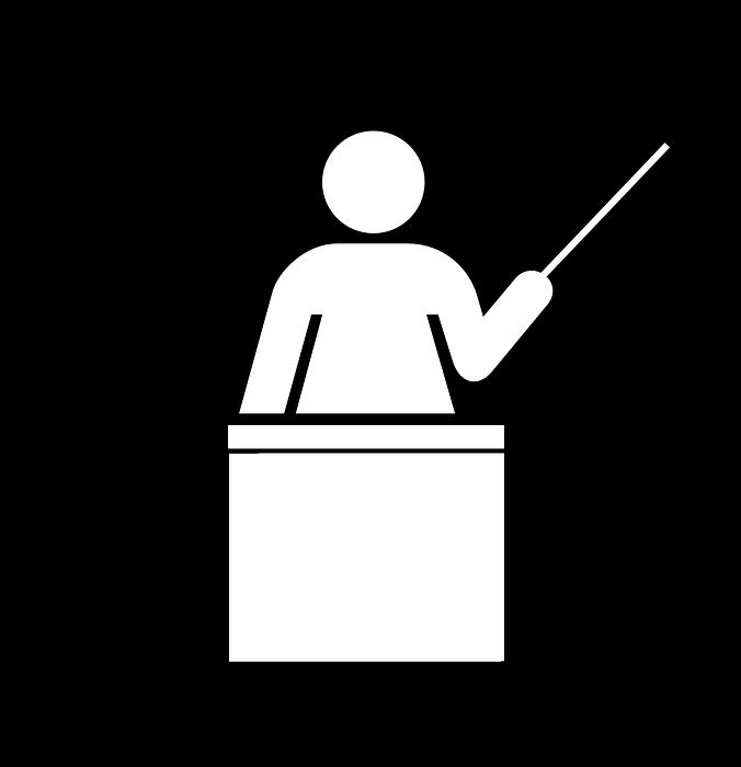 teacher, podium, education