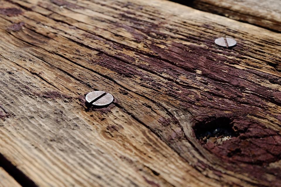 wood, screws, picnic table