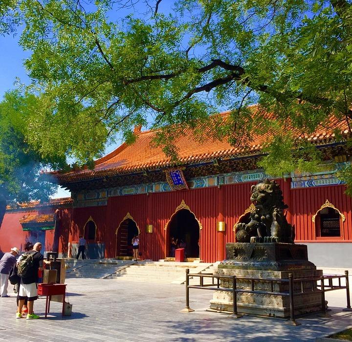 beijing, lama temple, classical