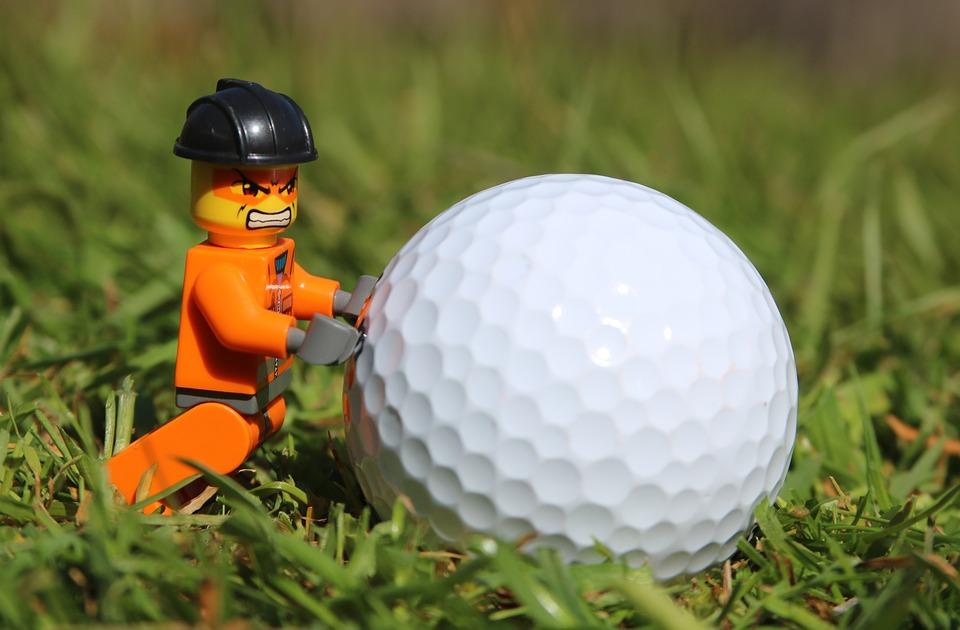 golf, golf ball, angry