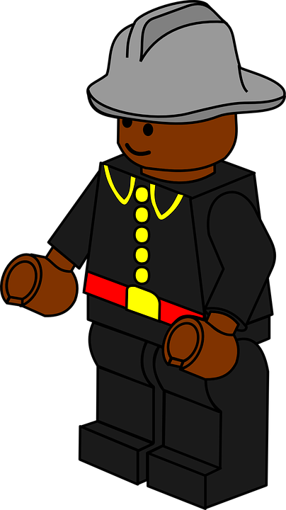 fireman, lego, toy