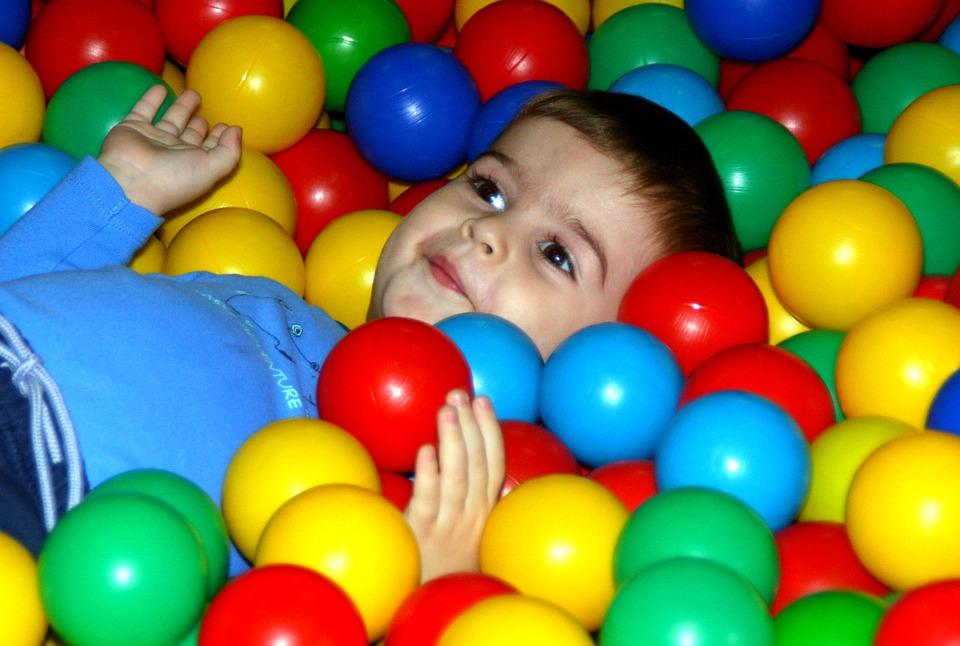 boy, playground, ball
