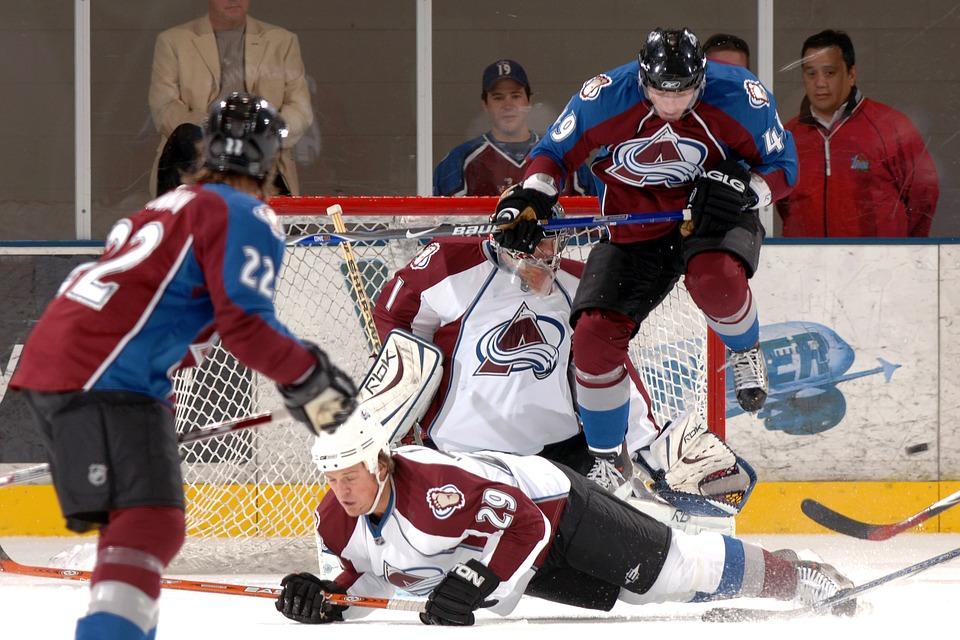 ice hockey, goalie, goal