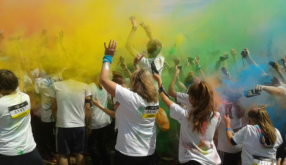 colorrun, party, color