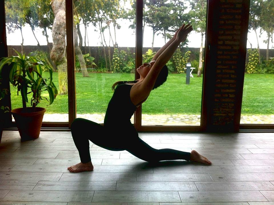 yoga, practice, woman