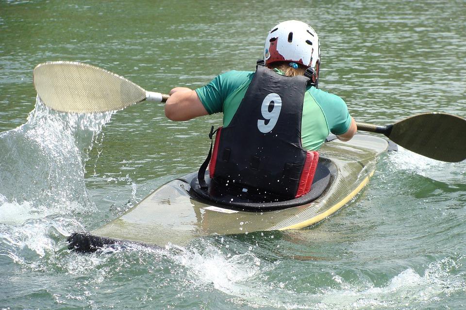 kayak, canoeists, water