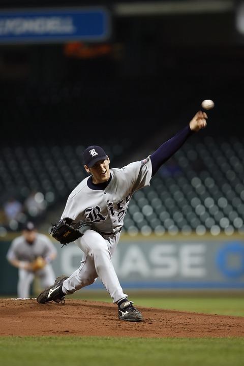 baseball, pitcher, player