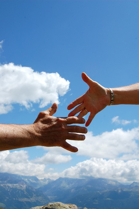 solidarity, sky, handshake