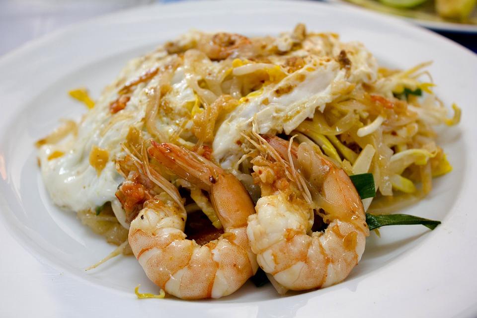 thai, food, pad thai